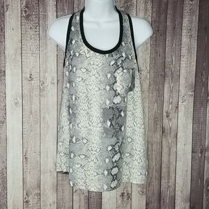 Bishop + Young snakeskin racerback tank top